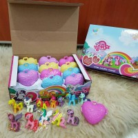 Mainan figure My little pony heart case box 12 pcs
