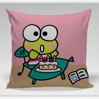 Bantal Sofa / dekorasi Kero Keroppi - Kero Birthday