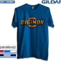 Kaos digimon-Kaos logo digimon-Kaos original gildan dgm01
