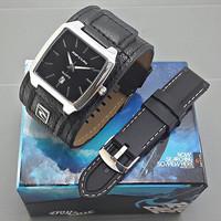 Jam Tangan Pria / Cowok Ripcurl SK1 Leather Black Keren dan Murah