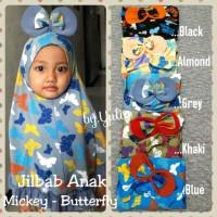 Jilbab Anak Syria Mickey Butterfly / miki / jilbab anak murah