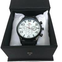 Swiss Army Leather Watch Circle- Black
