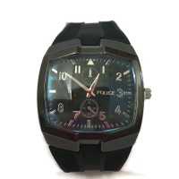 Police Rubber Watch Square- Black- Good Quality