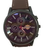 Harley Davidson Leather Watch Circle- Brown- Good Quality