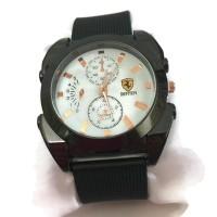 New Ferrari Leather Watch Circle - Black