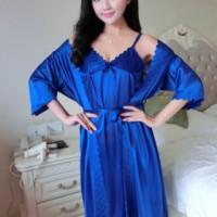 Baju Kimono Tidur Lingerie Cantik Cewek Bajutidur Import Murah Panjang