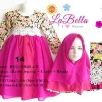 Baju Muslim/Gamis Anak Labella (Usia 7 - 11th) SB101-CR Ungu No.14