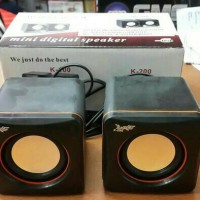 Speaker For Laptop 2.0 K100 Usb Colokan 3.5 Suara Mantap