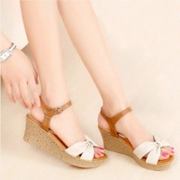 Sandal Wedges Wanita | Sepatu Wedges Cewek SDW54 - Wedges Murah cantik