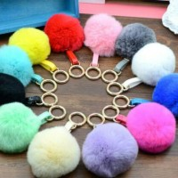 Fendi bag charm - pompom - fur ball - bag charm - gantungan tas