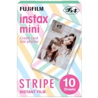 Fujifilm Instax Paper Mini Film Stripe 10 Sheets