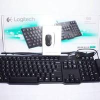 Paket Keyboard PS2 Logitech K100 + Mouse USB Logitech B100