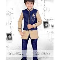 LNice Stelan muslim vest biru size kecil (M1199)