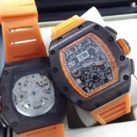 Jam Tangan Richard Mille 011 Clone 1:1 Original Rubber Orange