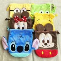 Pouch Bag Karakter / Tas serbaguna motif karakter Mini Mouse