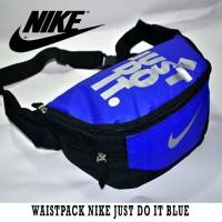 harga waistbag nike just do it biru   tas selempang nike   waistpack nike Tokopedia.com