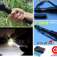 Senter Impor Cree Ultrafire Flashlight Auto Focus 2 Batere LED Putih