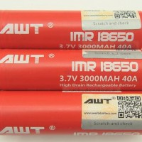 BATTERY AWT 40A / 3000MAH 100% AUTHENTIC