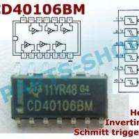 smd CD40106 CD40106BM CMOS Hex inverting schmitt trigger 40106 SOP-14