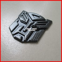 Jual Emblem Transformer Autobots Karbon Hitam Murah