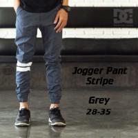 Celana Jogger Pants Strip Abu Bestseller
