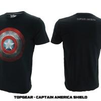 Jual T-Shirt / Baju / Kaos Superhero Topgear Captain America Shield Murah
