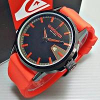 Jam Tangan Pria/Cowok Quiksilver Rubber Red Body Black Keren dan Murah
