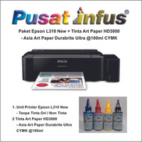 Printer Epson L300 - Paket Art Paper HD3000 @100ml CMYK Pusat Infus