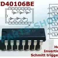 CD40106 CD40106BE CMOS Hex inverting schmitt trigger 40106 DIP-14