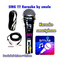 MURAH BANGET !!! Mic KABEL SKY Sing Karaoke Smule by SMARPHONE