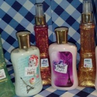 Bath and body works lotion & shimmer mist paris seri sweet on night