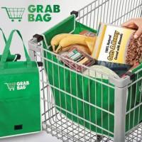 tas belanja kain besar Grab Bag 2 pcs shopper shopping pasar mall toko