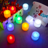 Jual Lilin Elektrik Mini Menyala 7warna seven colours natal christmas night Murah