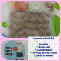 Jual frozen baso sapi polos kirim by gojek Murah