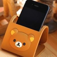 Dudukan iPhone Motif Beruang Rilakkuma (Bisa Dilipat)