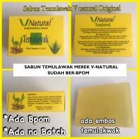 Sabun Pemutih Wajah Temulawak VNatural - Whitening Soap V Natural