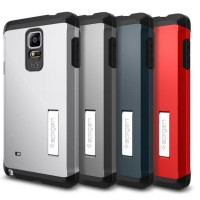 Casing Samsung Galaxy Note 4 Spigen Tough Armor Cases