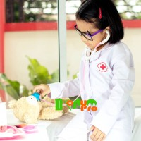 Harga jas dokter kecil uk 5 5 6 tahun tangan panjang kostum baju | antitipu.com