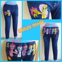 Celana 2- 6 TAHUN Jeans Panjang Anak My Little Pony IMPORT Bordir