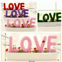 Love Potted Artificial Plant With Ornament