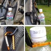 Holder Mineral Bottle Buckle Keychain / Pengait Botol Minum - Black