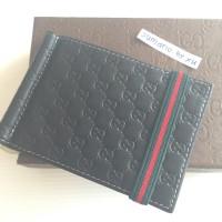GUCCI MONEY CLIP BLACK DOMPET REPLICA MIRROR WALLET KARTU 03