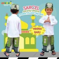 Set Sarung Celana Peci Anak Samarinda Mufee - Hijau - size XL