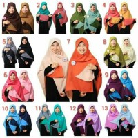 Jual Jilbab Bolak Balik Segi Empat Aufa Collection Murah