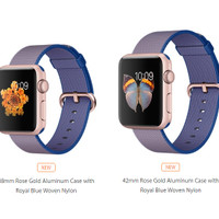 42mm Apple Watch Rose Gold Royal Blue Woven Nylon [Murah]