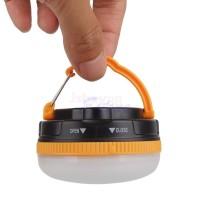 Lampu Tenda Camping 3 Led SMD Portable Magnetic + Carabiner Klip