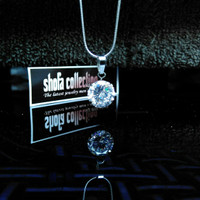 harga Kalung Wanita Liontin Diamond White Titanium Steel Tokopedia.com