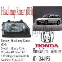 harga HEADLAMP HONDA CIVIC WONDER 4D 1984-1986 RH Tokopedia.com