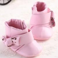 harga Prewalker Boot Leather Pink Ribbon Sepatu Prewalker Bayi Perempuan Boo Tokopedia.com