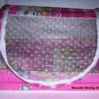 Kasur Bayi Kolam Klambu Corak Warna Pink